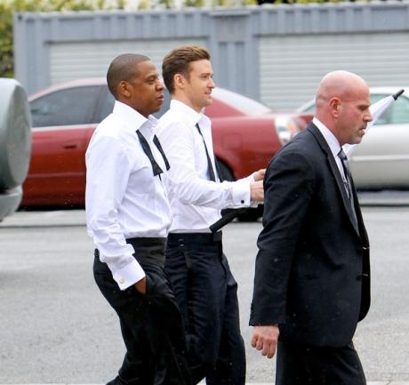 Jay-Z & Justin Suit & Tie