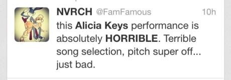 Alicia Keys Fan Tweet2