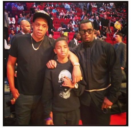 Jay-Z & Diddy and Son