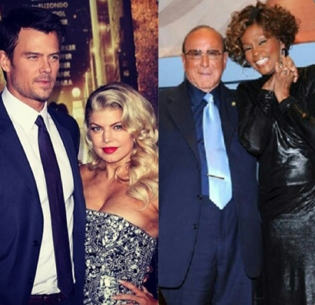 Josh Duhamel and Fergie, Clive Davies and Whitney Houston