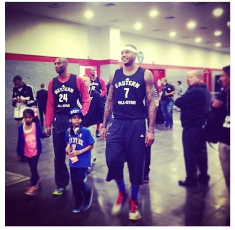Kobe & Carmelo w: Kids