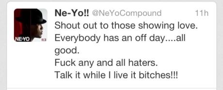 Ne-Yo Tweet