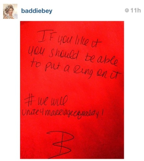 Beyonce Instagram Message