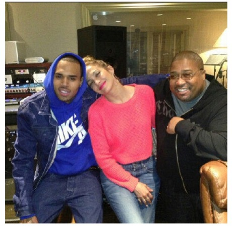 Chris Brown, JLo and Cory Rooney