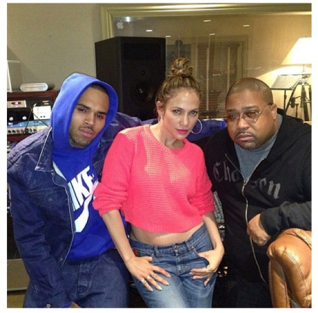 Chris Brown, JLo and Cory Rooney2