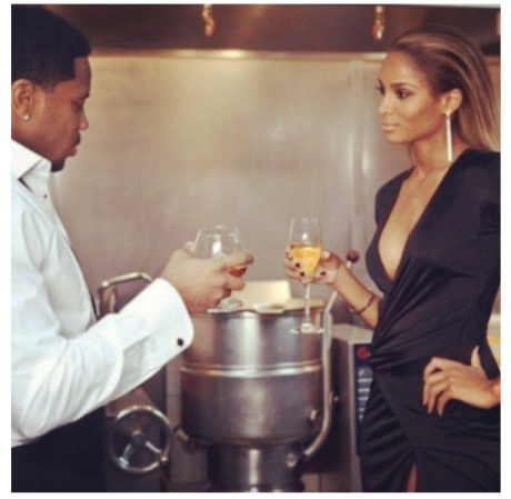 """Ciara on the set of """"The Game"""""""