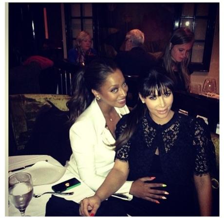La La Anthony & Kim Kardashian