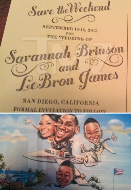 LeBron James and Savannah Brinson, Save the Weekend