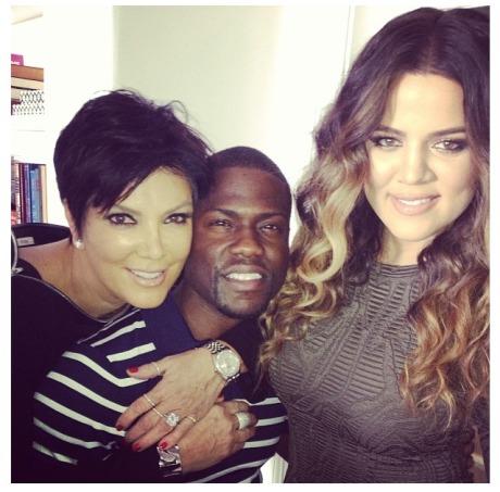 RHOH Kris Jenner, Kevin Hart, Khloe Kardashian