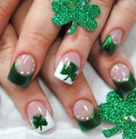 St. Patty's Day Nails 1