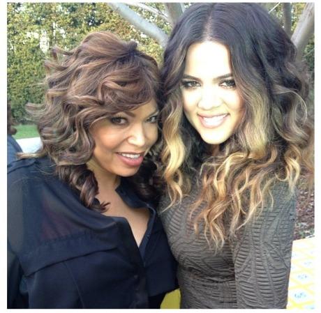 Tisha Campbell & Khloe Kardashian