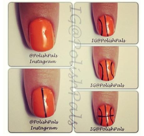 Bball nail tutorial