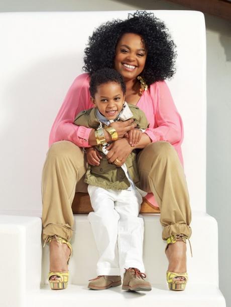 Photograph of Jill Scott and son Jett