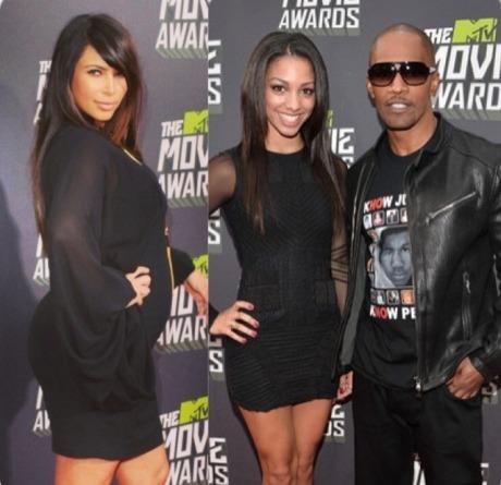 Kim Kardashian, Jamie Foxx & Corrine