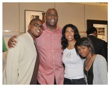 Magic Johnson and Family