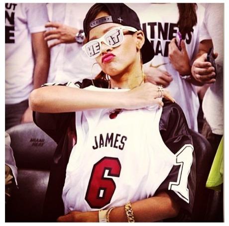 Rihanna Miami Heat1