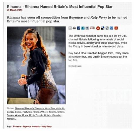 Rihanna Most Influential Pop Star1