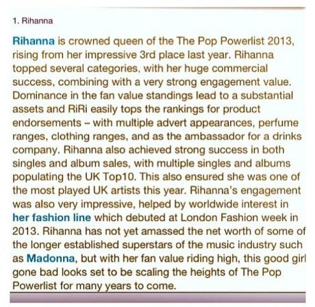 Rihanna Most Influential Pop Star2