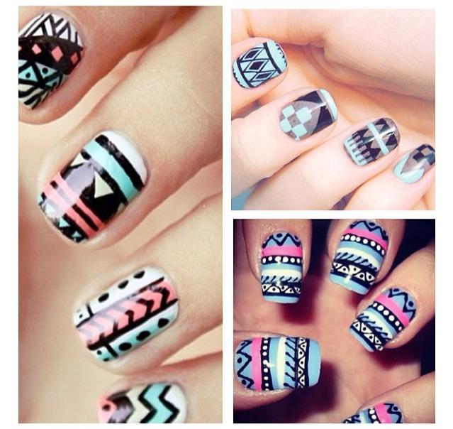Manicure Mondays Tribal Nail Designs