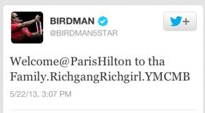 Birdman Tweet