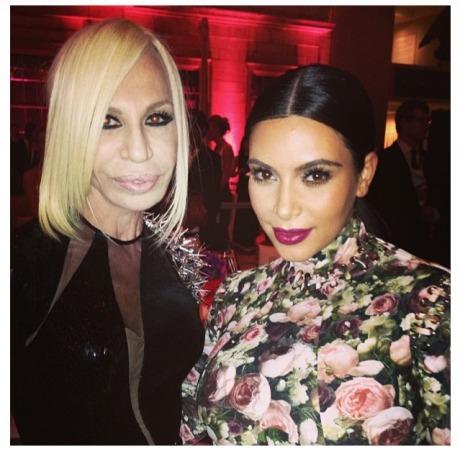 Donatella Versace and Kim Kardashian