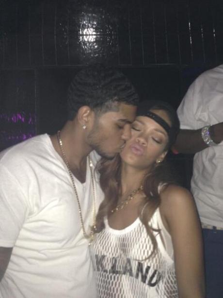 Rihanna and mystery man