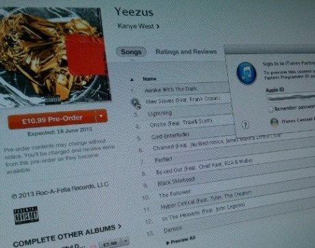 Yeezus Tracklist