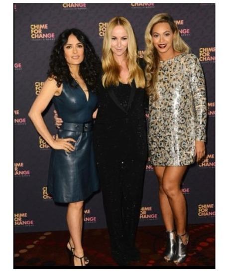 CFC Salma Hayek, Frida Giannini, and Beyonce