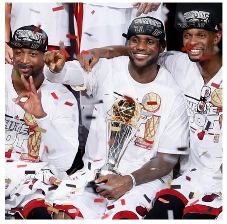 Dwyane Wade, LeBron James, Chris Bosh