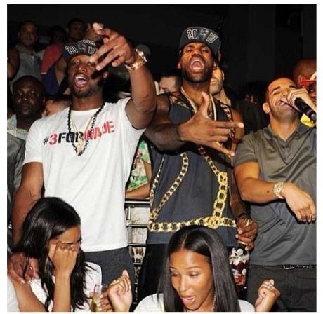 Dwyane Wade, LeBron James, Drake 2
