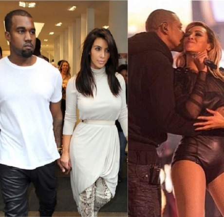 Kanye West, Kim Kardashian, Jay-Z, Beyonce