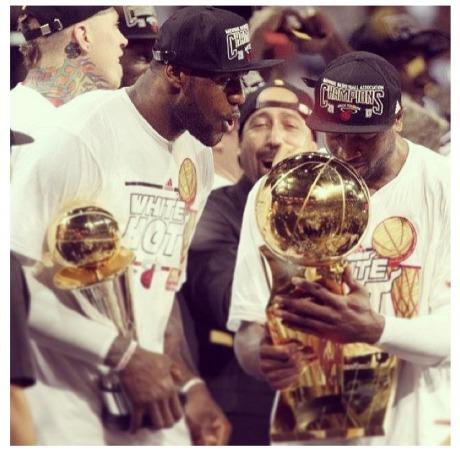 LeBron James and Dwyane Wade 2