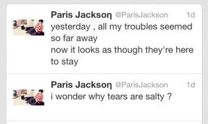 Paris Jackson Tweets