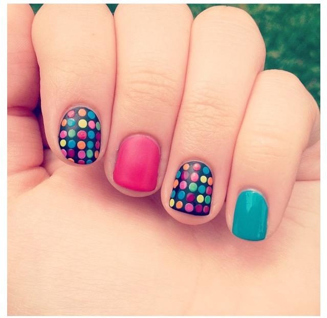 Manicure Mondays Polka Dot Nail Designs