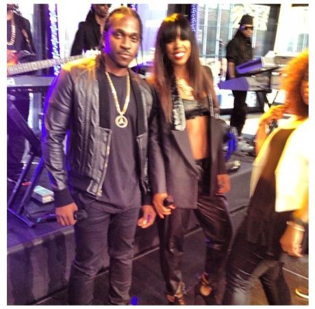 Pusha T and Kelly Rowland